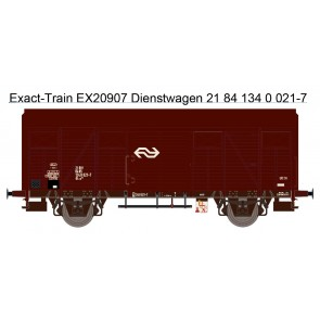 Exact train EX20907 - NS Gls 1440 Van Werkstattwagen mit braunen Luftklappen Epoche IV Nr. 1340 021-7
