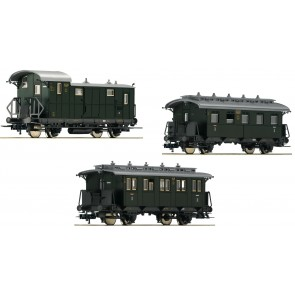 "Fleischmann 481805 - 3-tlg. Set ""Nebenbahn-Personenzug"" Teil 2, DRG"