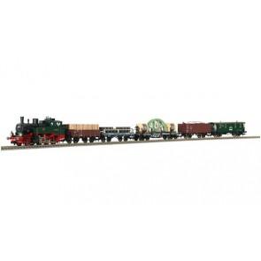 Fleischmann 490501 - Stoomloc + 5 goederenwagens