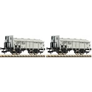 """Fleischmann 591303 - 2-tlg.Set Klappdeckelwagen """"Chemische Fabrik Smits & Zoon"""", NS"""