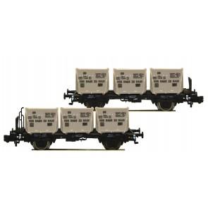 Fleischmann 823303 - Doppel-EH.Behältertransportwag