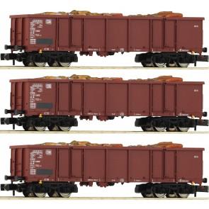 Fleischmann 828345 - Set:3-tlg.Off. Güterwagen Eaos