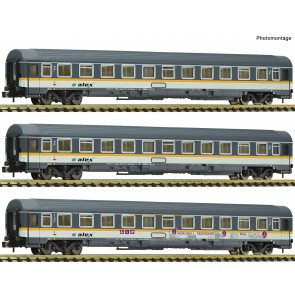Fleischmann 881901 - 3-tlg.Set ALEX Eurofima Wagen