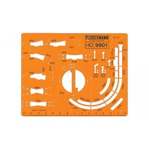 Fleischmann 9901 - Tekensjabloon voor oude Fleischmann rails