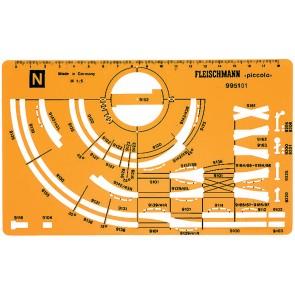 Fleischmann 995101 - Gleisplanschablone N neu