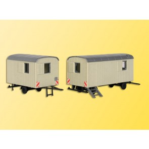 Kibri 10278 - H0 Bauwagen, 2 Stueck