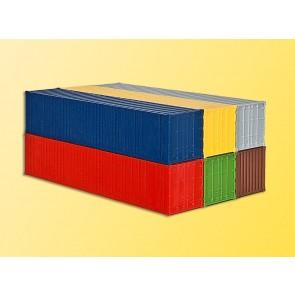 Kibri 10922 - H0 40-Fuss-Container, 6 Stuec