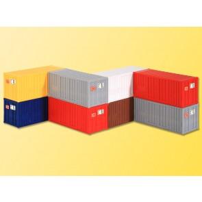 Kibri 10924 - H0 20-Fuss-Container, 8 Stuec