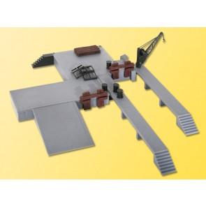 Kibri 38620 - H0 Deko-Set Laderampen mit Kr