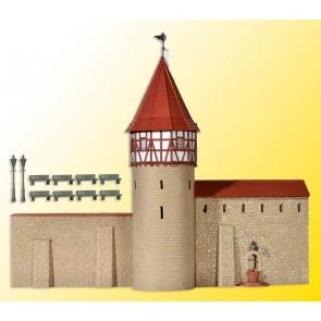 Kibri 38914 - H0 Stadtmauer mit Fachwerktur