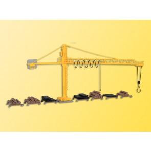 Kibri 39817 - H0 Kran mit Schwellenstapel