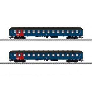 Marklin 42695 - Reisezugwagen-Set,2 Wag.,DSB,