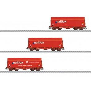Marklin 47221 - Schiebeplanenwagen-Set NL