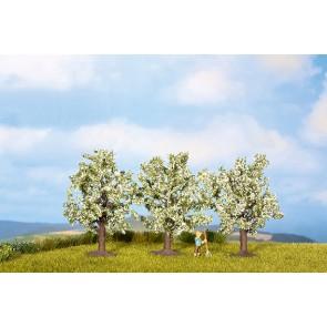 Noch 25111 - Obstbäume, weiß blühend, 3 Stück, 8 cm hoch