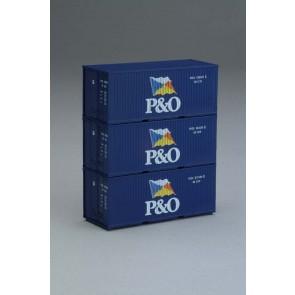 Piko 56200 - Container 3er-Set 20' P&O