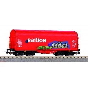 Piko 58981 - Schiebeplanenwg. Railion NS mit Graffiti V