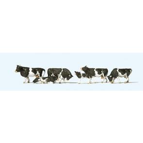Preiser 10145 - 1:87 Koeien zwartbont
