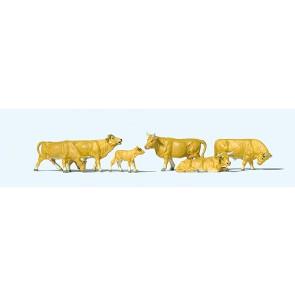 Preiser 10147 - 1:87 Koeien lichtbruin