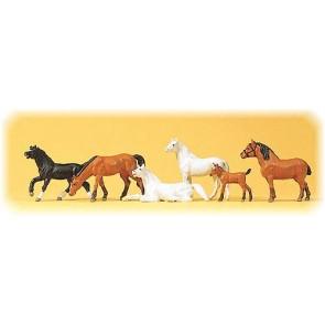 Preiser 10150 - 1:87 Paarden