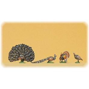 Preiser 10166 - 1:87 Kalkoen en pauwen