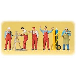 Preiser 10243 - 1:87 Arbeiders en accessoires