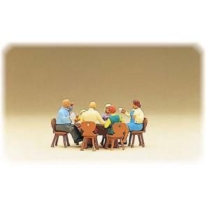 Preiser 10282 - 1:87 Familie Krause in tuin restaurant
