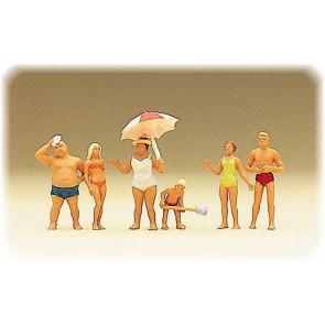 Preiser 10283 - 1:87 Familie Krause op het strand