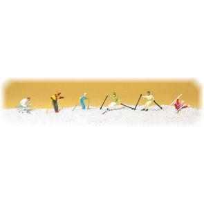 Preiser 10313 - 1:87 Afdalende skiers