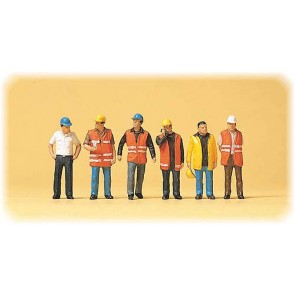 Preiser 10420 - 1:87 Arbeiders met veiligheidsvesten