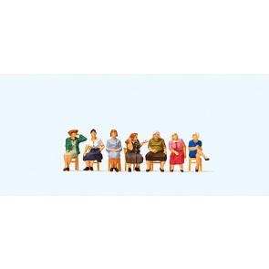 Preiser 10580 - 1:87 Zittende vrouwen