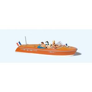 Preiser 10689 - 1:87 Motorboot Riva Ariston met bemanning II