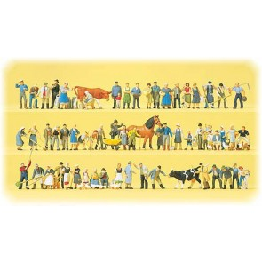 Preiser 13001 - 1:87 60 pcs Boederij-figuren  Dieren  Accessoires