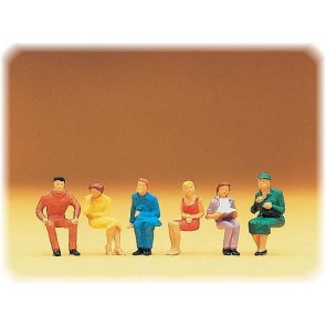 Preiser 14095 - 1:87 Zittende figuren
