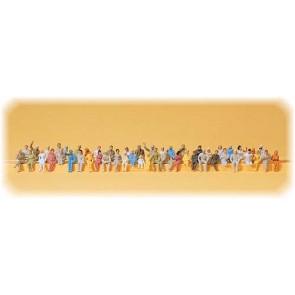 Preiser 14400 - 1:87 48 pcs reizigers voor treincoupe