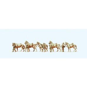 Preiser 16607 - 1:87 Cavalaristen met paarden 1939-1945