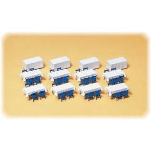 Preiser 17219 - 1:87 Tafels  stoelen  tafelkleden