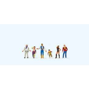 Preiser 24644 - 1:87 Figuren in carnavalskleding