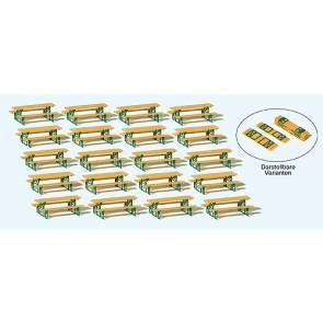 """Preiser 24707 - 1:87 20 tafels voor de """"biergarten"""" - bouwpakket"""