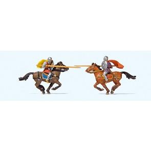 Preiser 24763 - 1:87 Riddergevecht te paard