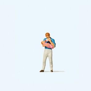 Preiser 28177 - 1:87 Vader en baby