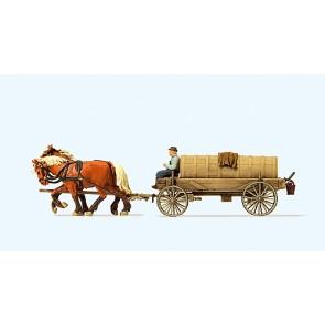 Preiser 30414 - 1:87 Gierwagen met paarden