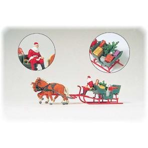 Preiser 30448 - 1:87 Arreslee met kerstman