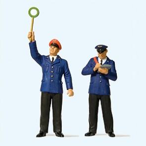 Preiser 44920 - 1:22,5 Perronwachter en conducteur