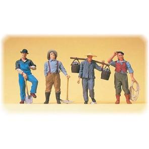 Preiser 65343 - 1:4345 US-Bahnarbeiter. Fr_he Dampfl