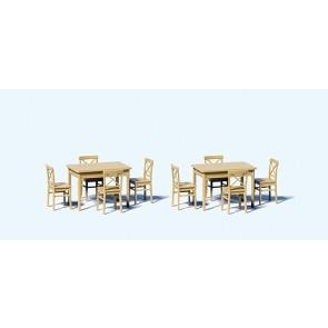 Preiser 68281 - 1:50 Tafels en stoelen - bouwmodel