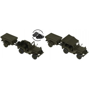 Roco 05045 - Willys Jeep + M 100 US