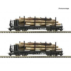 Roco 34582 - 2er Set Rungenw. 4a.Holz ÖBB
