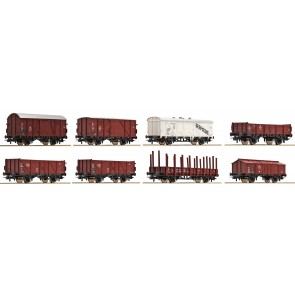 Roco 44002 - Güterwagenset DB 8 St.