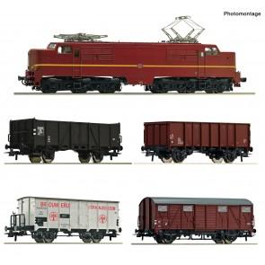 Roco 61459 - 5-tlg. Set: Elektrolokomotive 1224 mit Güterzug, NS