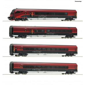 Roco 74084 - 4-tlg Set Railjet DCC